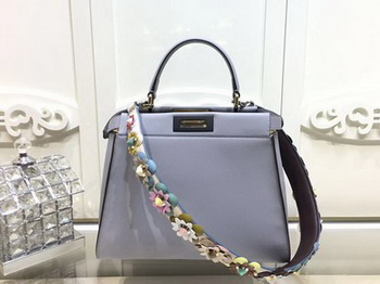 Fendi Peekaboo Small Bag Calfskin Leather FD26796 SkyBlue