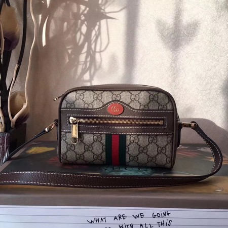 Gucci GG Supreme Canvas Shoulder Bag 501338 Brown