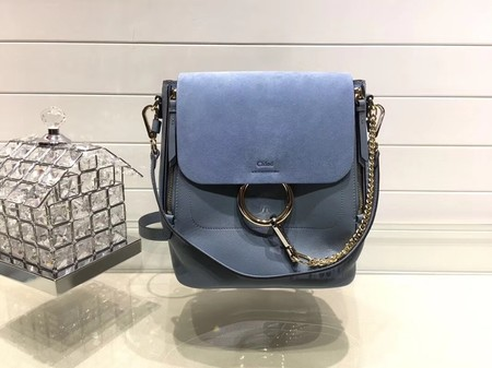 Chloe Mini Faye Backpack Calfskin C4756 SkyBlue