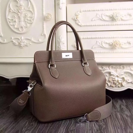 Hermes Toolbox Bag Original Togo Leather H3259 Grey