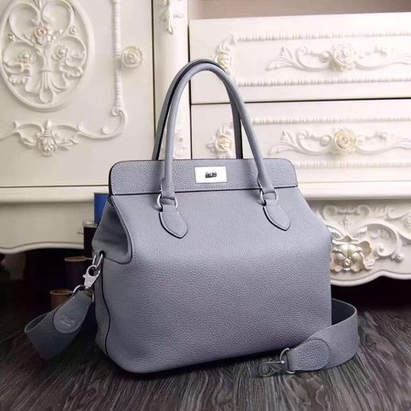 Hermes Toolbox Bag Original Togo Leather H3259 Light Blue