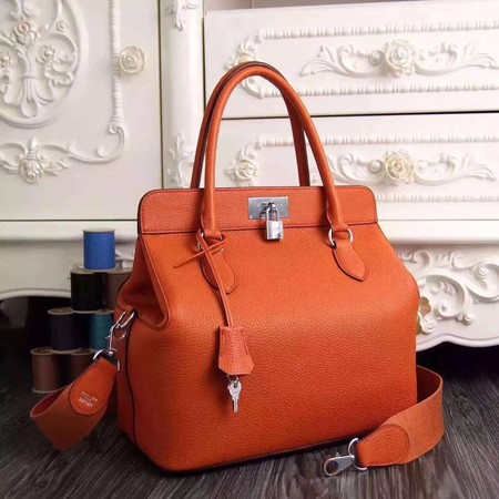 Hermes Toolbox Bag Original Togo Leather H3259 Orange