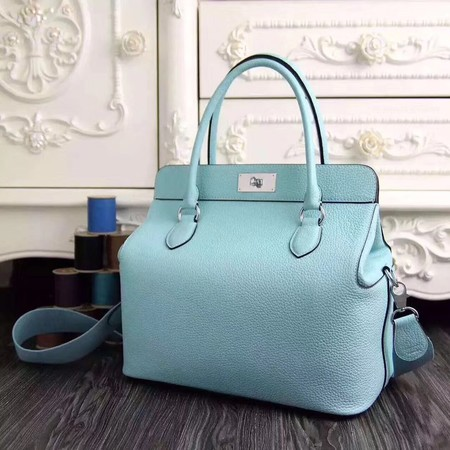 Hermes Toolbox Bag Original Togo Leather H3259 SkyBlue