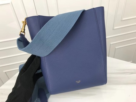 Celine Cabas Phantom Bags Original Calfskin Leather 3370 Skyblue