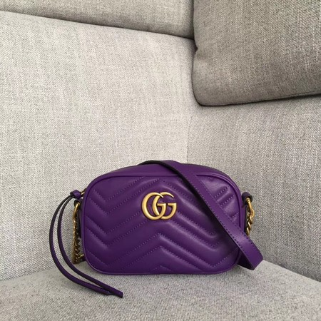 Gucci GG Marmont Matelasse mini Bag 448065 purple
