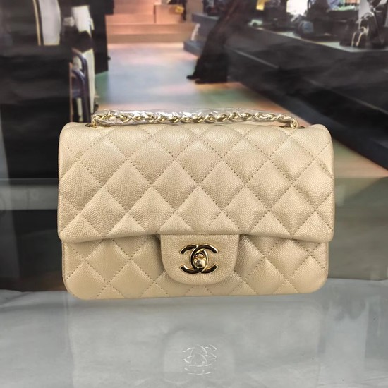 Chanel Original Caviar Leather Flap cross-body bag CF1116 gold Gold chain
