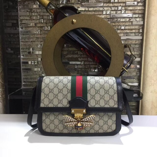 Gucci Queen Margaret GG Supreme medium shoulder bag 524356 black