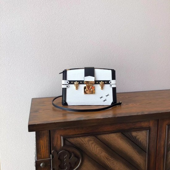 Louis Vuitton Epi Leather TRUNK CLUTCH M51697 white