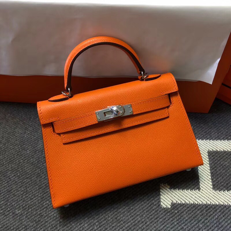 Hermes Kelly Tote Bag Original epsom  Leather KL20 Orange