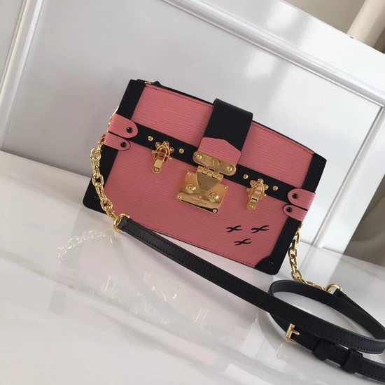 Louis Vuitton Epi Leather TRUNK CLUTCH M51697 pink