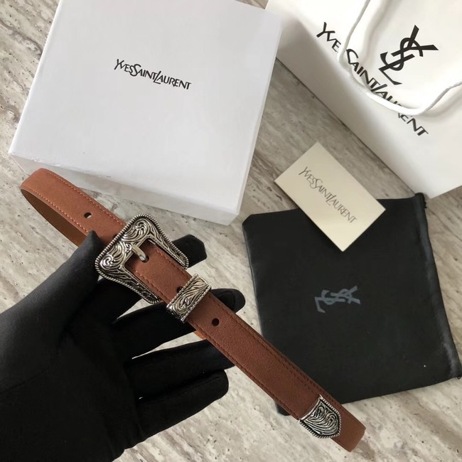 YSL leather belt 4765 brown