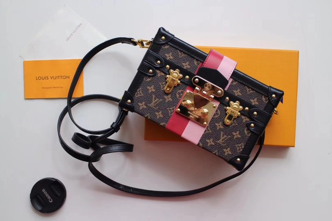 Louis Vuitton Monogram Canvas PETITE MALLE M43872 black
