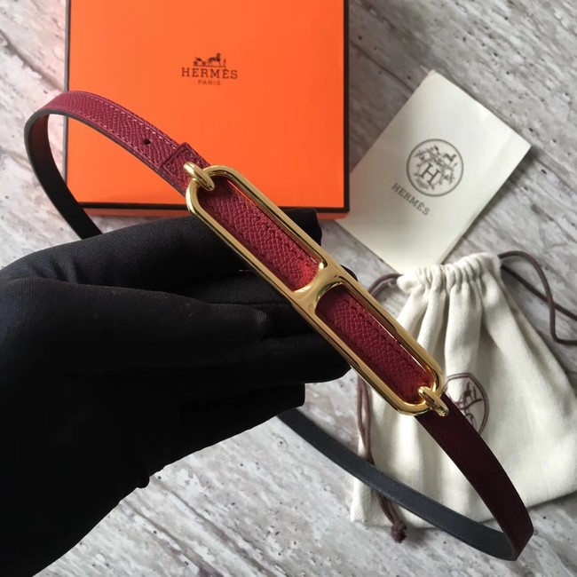 Hermes Roulis buckle & Reversible leather strap 13 mm H065538 fuchsia
