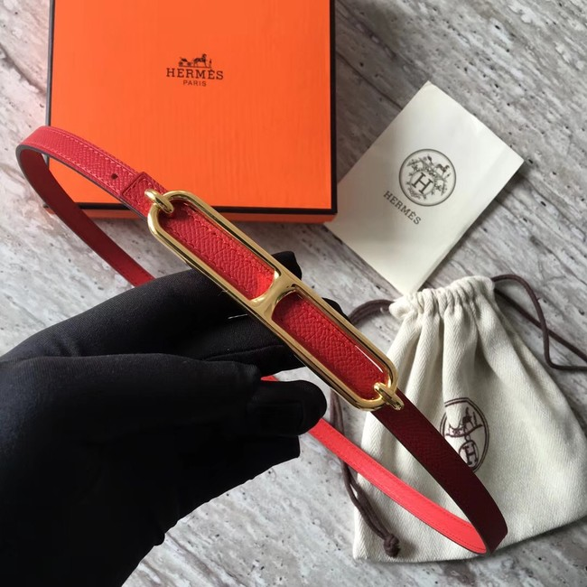 Hermes Roulis buckle & Reversible leather strap 13 mm H065538 red