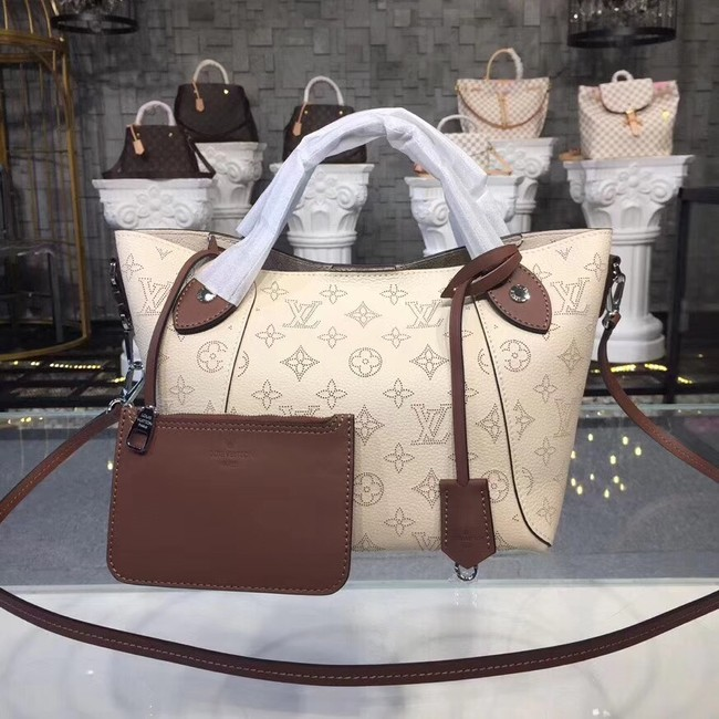 Louis Vuitton original Mahina Leather Tote Bag 54351 cream