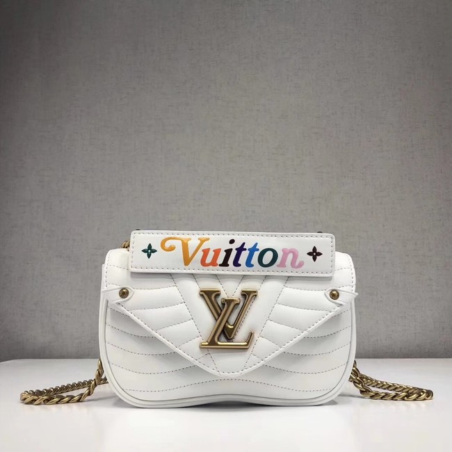 LOUIS VUITTON NEW WAVE CHAIN BAG PM M51683 white