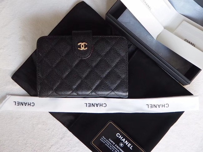Chanel Classic Flap Wallet A48667 black