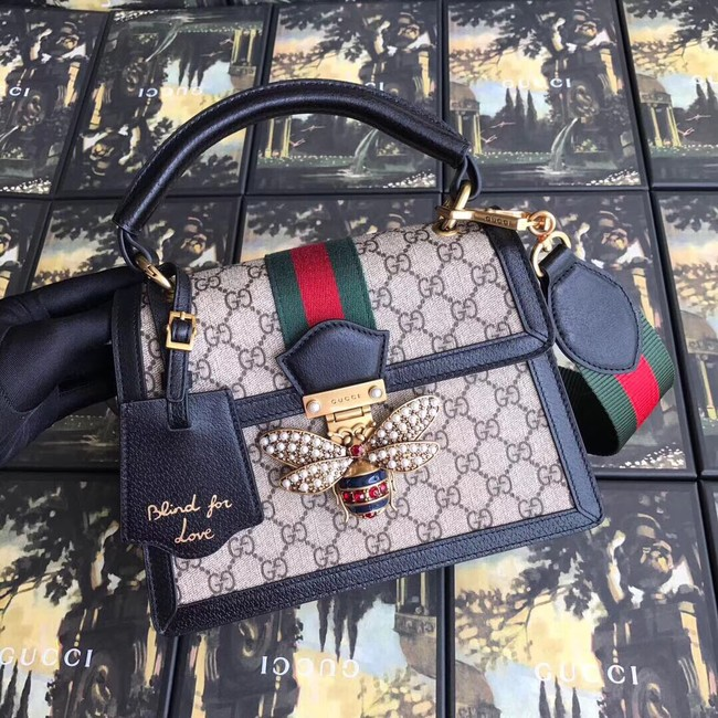 Gucci Queen Margaret GG small top handle bag 476541 black