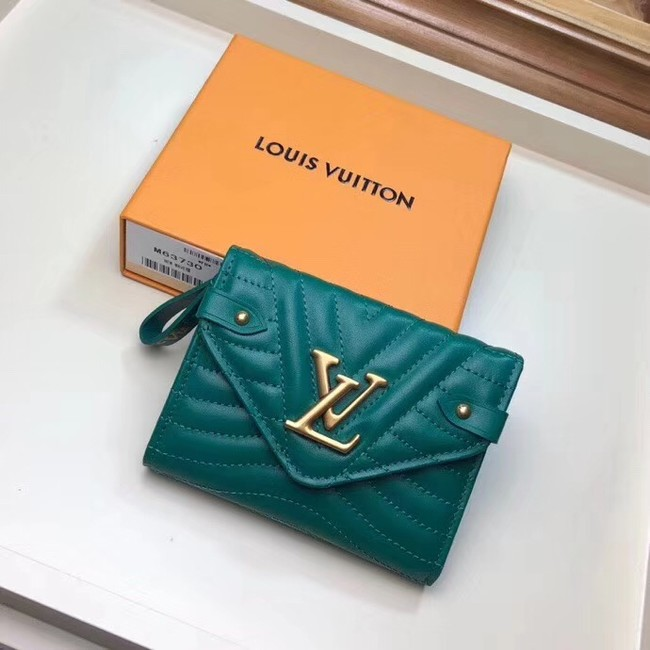LOUIS VUITTON NEW WAVE COMPACT WALLET M63427 green
