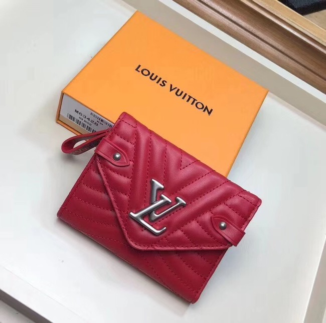 LOUIS VUITTON NEW WAVE COMPACT WALLET M63427 red