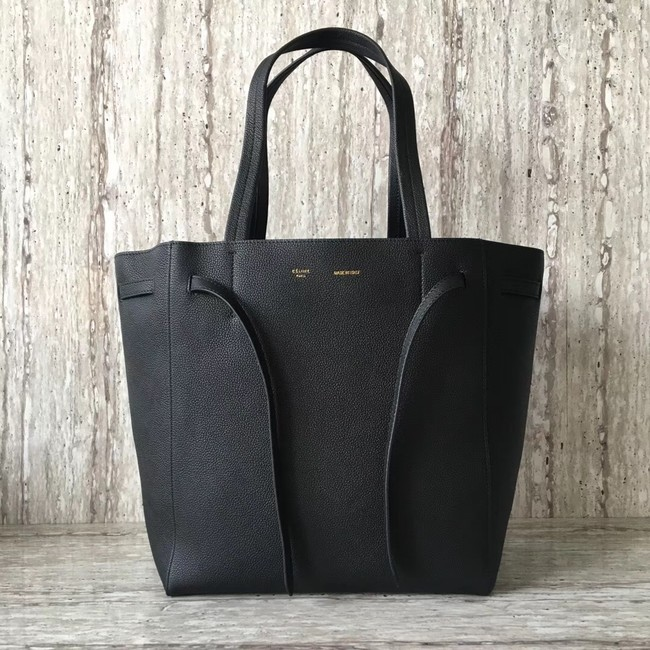 CELINE SMALL CABAS PHANTOM IN SOFT GRAINED CALFSKIN 17602 black