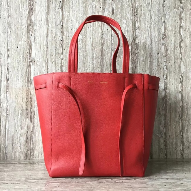 CELINE SMALL CABAS PHANTOM IN SOFT GRAINED CALFSKIN 17602 red