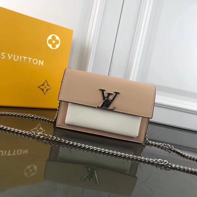 Louis Vuitton MYLOCKME BB CHAIN LOUISE M63471 apricot