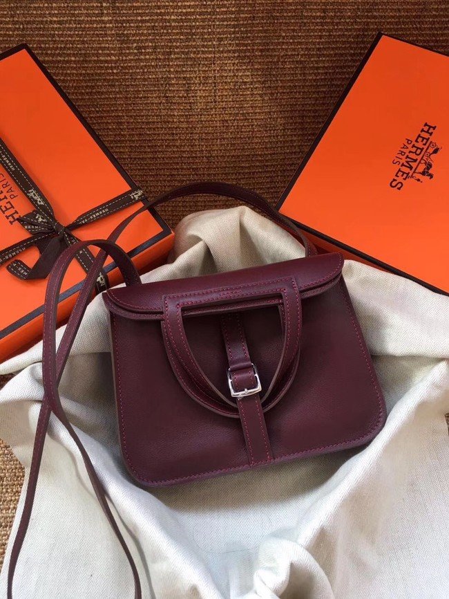 Hermes Original Halzan mini bag H069523 bordeaux