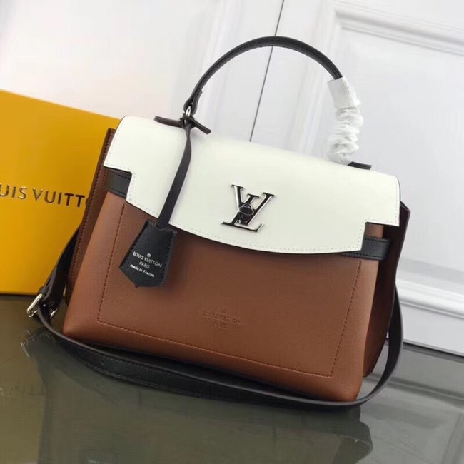 Louis Vuitton LOCKME EVER M51395 brown&white