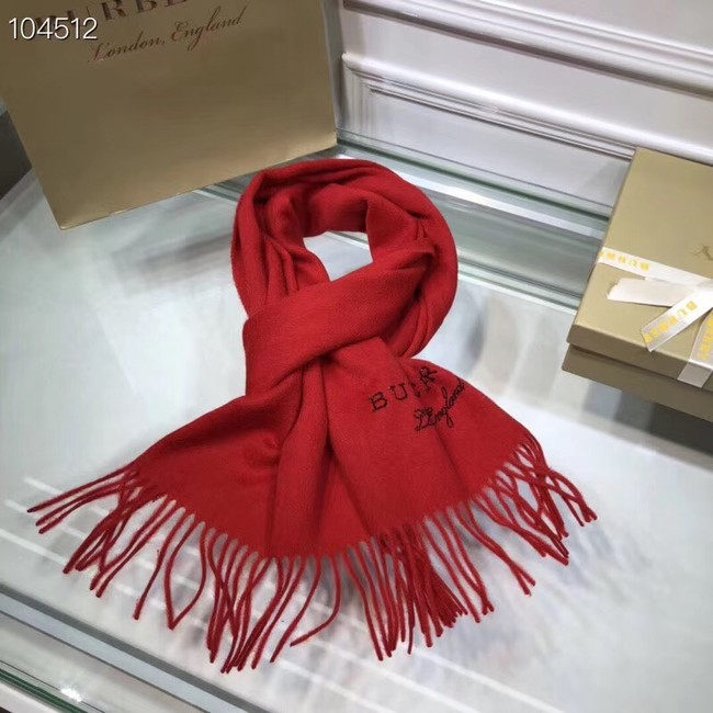 Burberry lambswool & cashmere scarf 71156 red