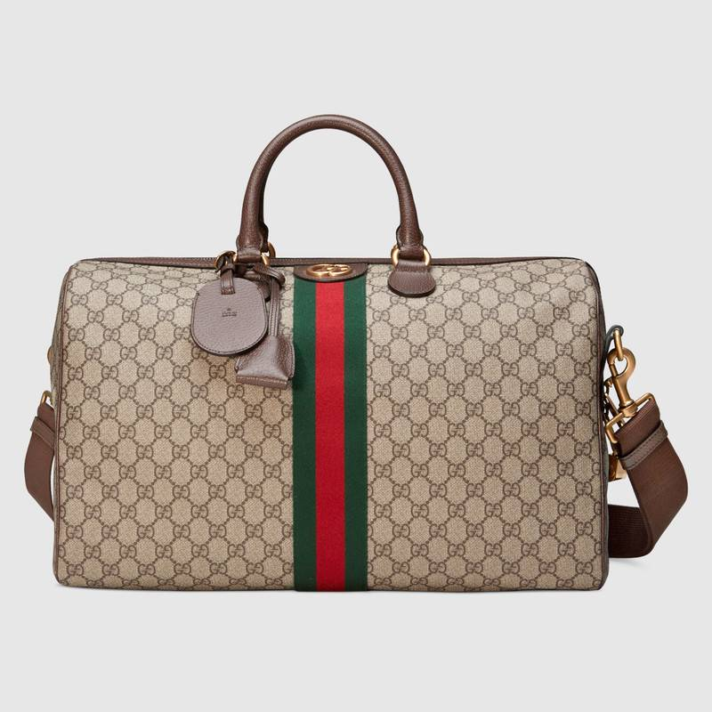 Gucci Ophidia GG medium carry-on duffle 547953 brown