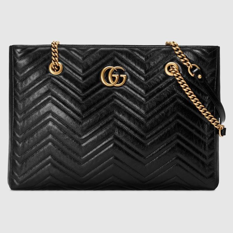 Gucci GG Marmont matelasse medium tote 524578 black