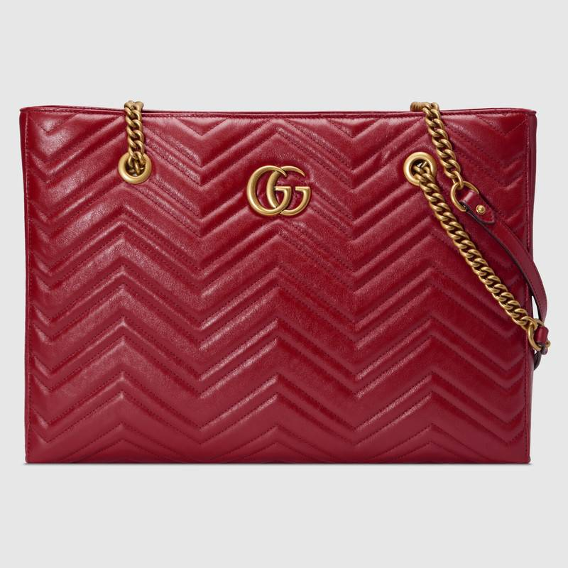Gucci GG Marmont matelasse medium tote 524578 red