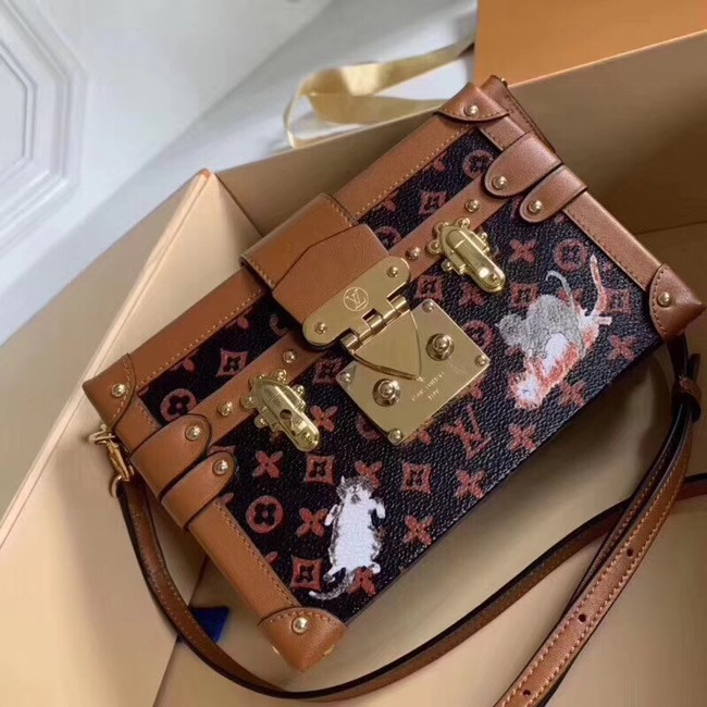 Louis Vuitton PETITE MALLE MM M53134 brown