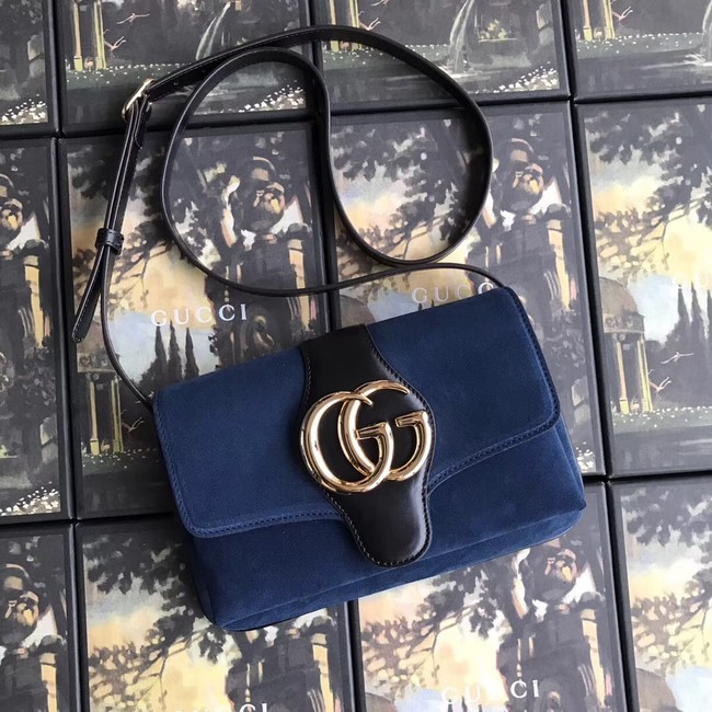 Gucci Arli small shoulder bag 550129 blue suede