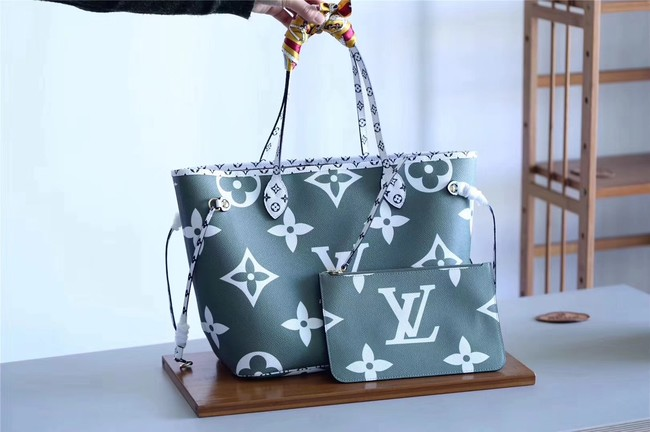 Louis Vuitton Original Monogram Canvas NEVERFULL M41177 green