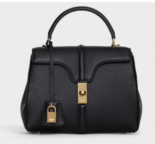 CELINE SMALL 16 BAG IN SATINATED CALFSKIN 188003 black