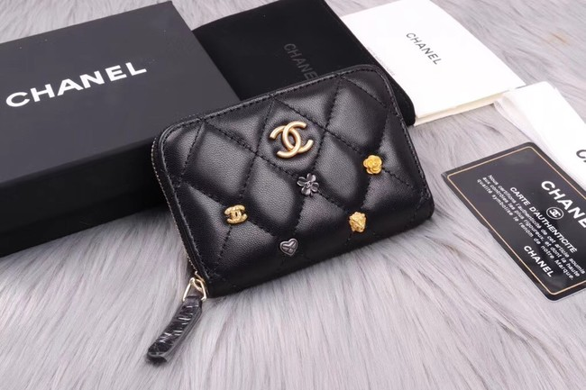 Chanel classic card holder A81610 black