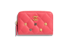 Chanel classic card holder A81610 pink