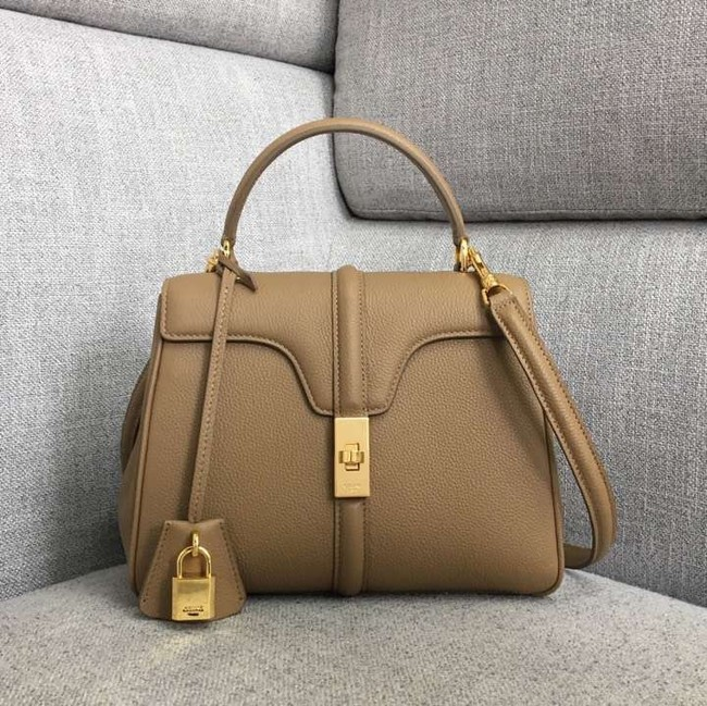 CELINE SMALL 16 BAG IN SATINATED CALFSKIN 188003 Khaki