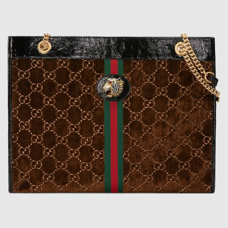 Gucci Rajah large tote 537219 Brown