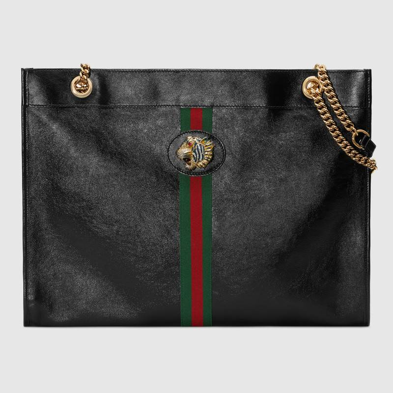 Gucci Rajah large tote 537219 black