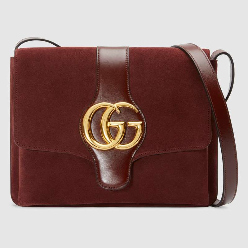 Gucci Arli medium shoulder bag 550126 Bordeaux suede