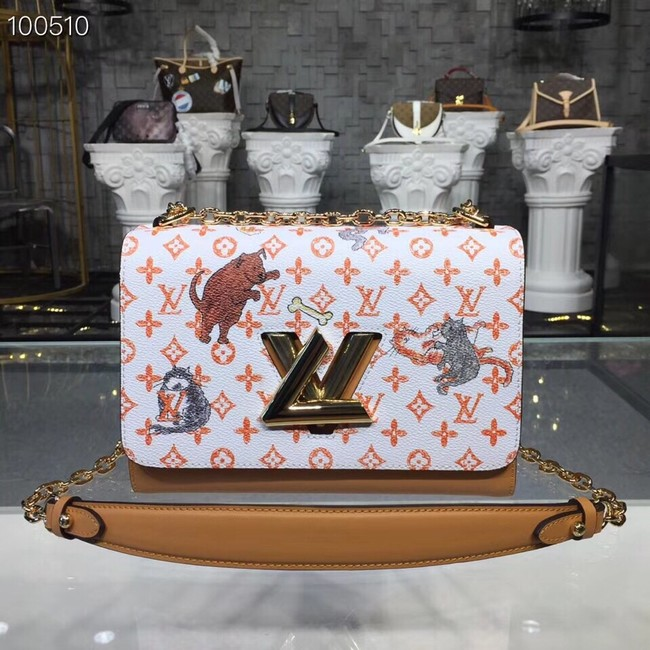 Louis Vuitton TWIST MM M50282 white&orange