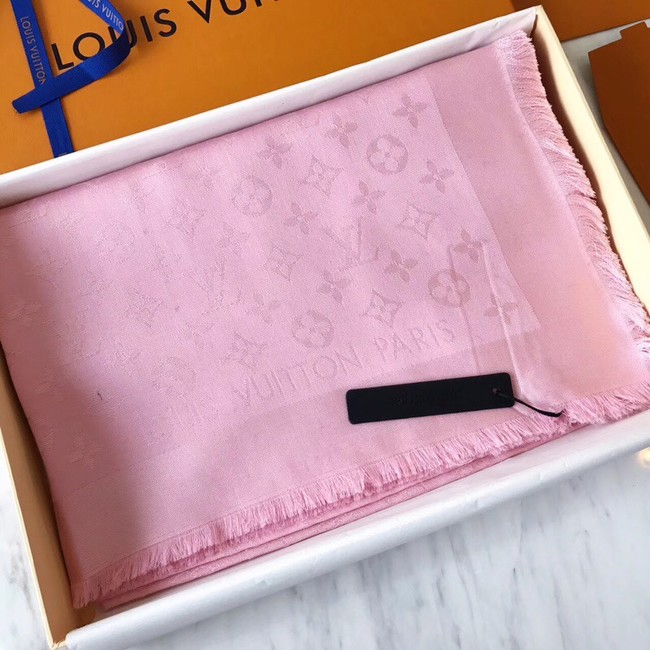 Louis Vuitton MONACO SQUARE Monogram flower pattern silk M71150 Rose Ballerine Pink