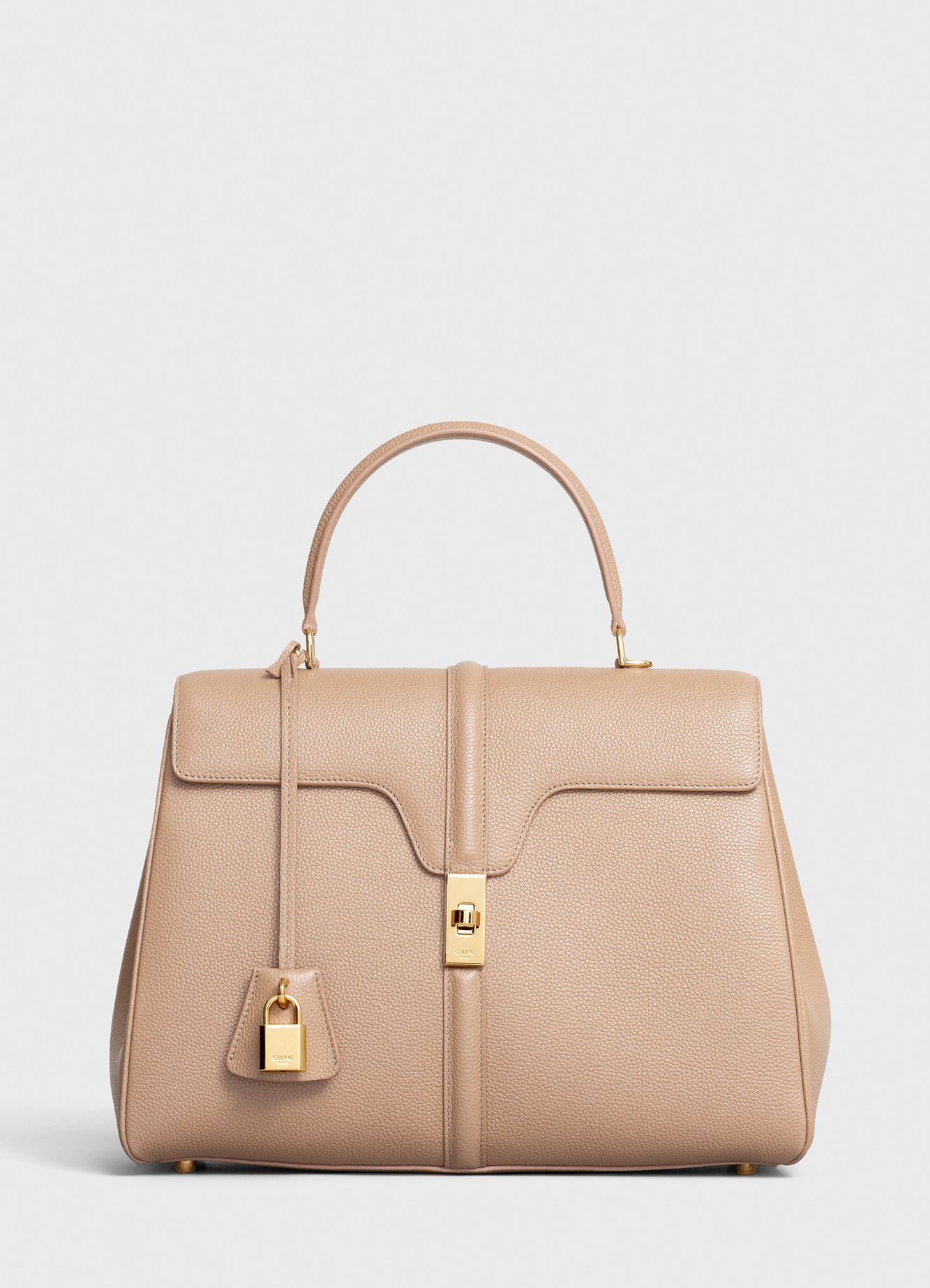 CELINE MEDIUM 16 BAG IN SATINATED CALFSKIN 187373 BEIGE