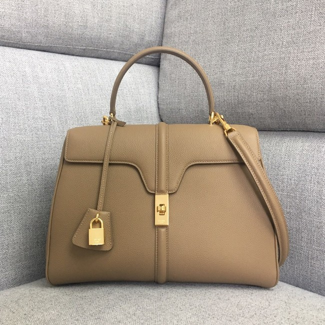CELINE MEDIUM 16 BAG IN SATINATED CALFSKIN 187373 Khaki