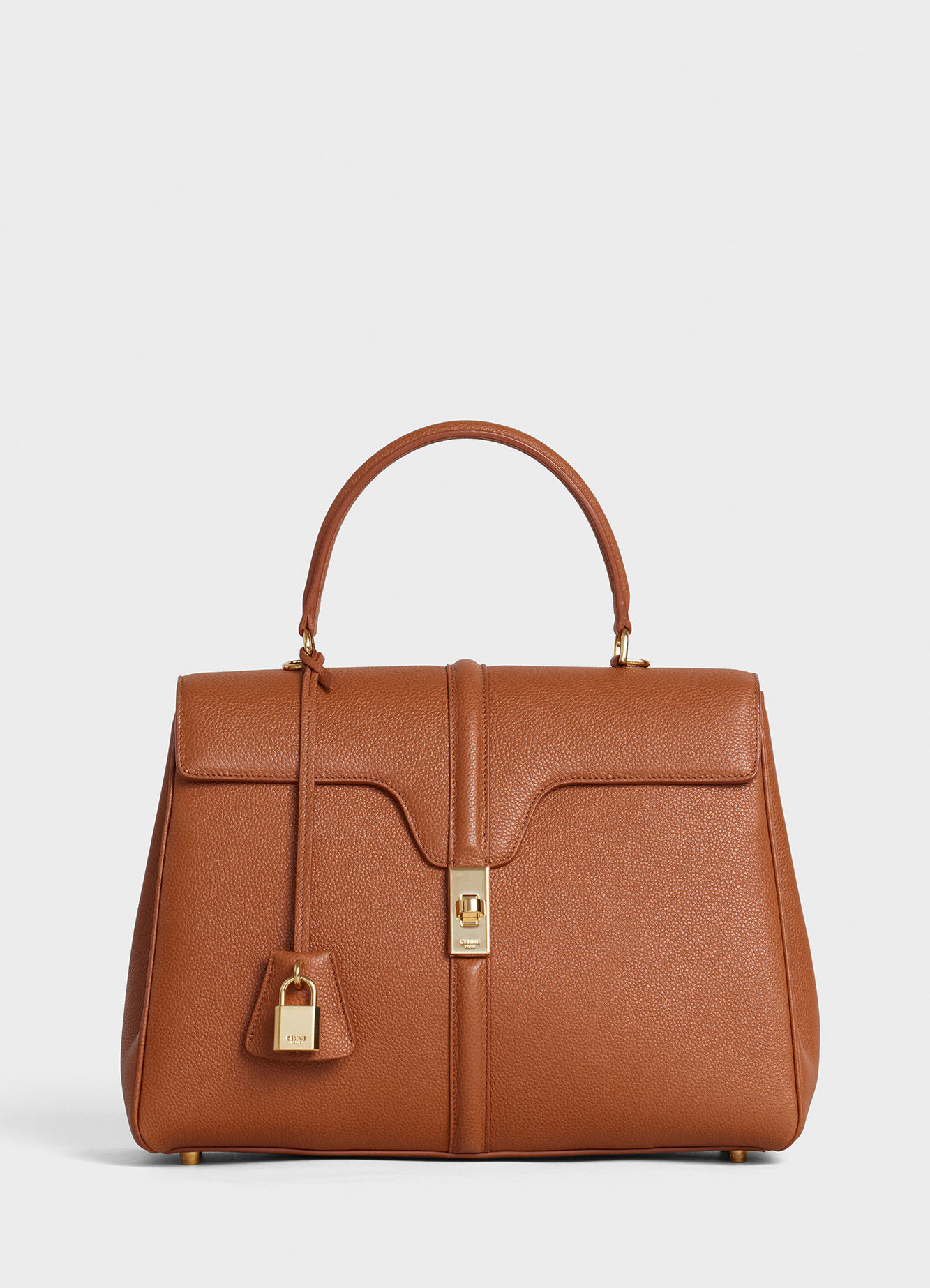 CELINE MEDIUM 16 BAG IN SATINATED CALFSKIN 187373 TAN