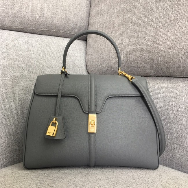 CELINE MEDIUM 16 BAG IN SATINATED CALFSKIN 187373 grey