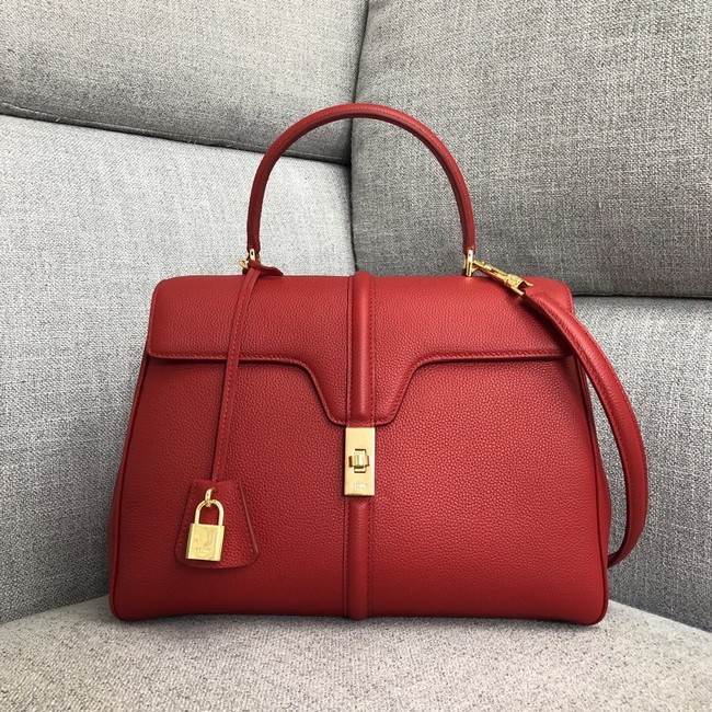 CELINE MEDIUM 16 BAG IN SATINATED CALFSKIN 187373 red